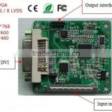 Good tools for serviceman to maintain motherboard / single 6 channel LVDS TO DVI/VGA signal converter (LDVGA01)