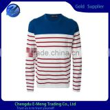 Custom Design Wholesale Crew Neck Men High Quality Strip Sweatshirt