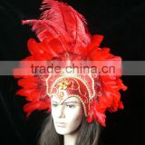 colourful Carnival feather headdress