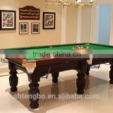 Economic 8ft MDF billiard table,classic type 3 cushions billiard table for sale