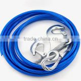 Wholesale Europe plastic coated steel wire tow rope snatch strap for car emergency tool