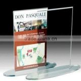 Wholesale Clear Tabletop Acrylic Menu/Brochure/Poster/Leaflet/Signs Display Holder with Oval Base