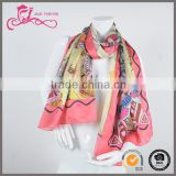 Manufacturer 2016 latest customized 100% silk scarf