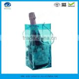 Plastic PVC Wine Cooler Bag, PVC Ice Bag for Wine with handle