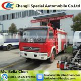 120HP DONGFENG standard fire truck dimensions, water tank capacity 3-4 ton