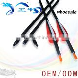 custom-made Spine300-600Pure Carbon Arrow With Feather For Hunting Bow
