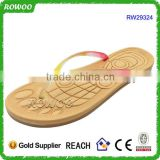 cheap pvc rubber spa slipper fancy ladies beach massage flip flop