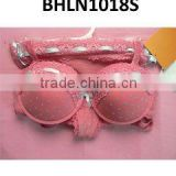 Ladies lace bra and panty underwear set women lace sexy lingerie,pink sexy lady bra and panty set