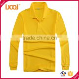 Bulk custom long sleeve blank plain dri fit polyester cotton polo shirts wholesale men's t shirt in stock