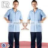 Sky with White Trim Mens Revere Collar Tunic Medical Uniform
