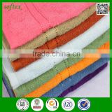 china wholesale 27x54inch 16s cotton terry pure color cheapest bath towels with dobby                                                                                                         Supplier's Choice