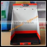 Corrugated Cardboard POP Counter Top Display Box/Mobile Accessories Counter Display With Pegs