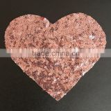 hot sale sequin heart applique,sequin heart for children garment                                                                         Quality Choice