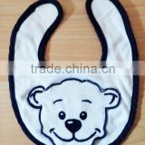 infants & toddlers&children's cotton baby bibs customized embroidered logo on white towel bib-32 for baby