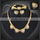 fashion heart shape jewelry set/gold plate jewelry to buy