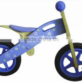 Red/black Motor-style Kids' Wooden Balance Bike