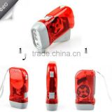 hand crank generator hand dynamo flashlight, rechargeable flash light, hand crank flashlight