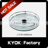 KYOK Pole System Kitchen Bar Glass Round Rack ,Round Goblet Rack,Pull Out Wire Baskets For Storage