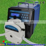 WT600F YZ35 CE approved IP65 precision calibration 12liter/min food grade peristaltic pump for liquid chemical filling dispense