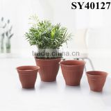 Pots for wholesale outdoor plastic terracotta flower pot