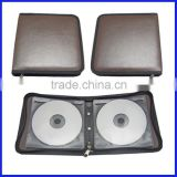 PU Leather Wedding CD DVD Disc Case Holder Box Cover