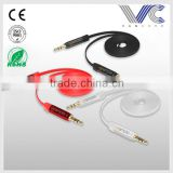 High end silicon twiste Male to Male CCA 2R to 2R RCA Car Audio Cable China Manufacturer