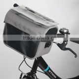 Wholesale High Quality waterproof bicycle travel handlebar bag with high density fabric travel bag with map display