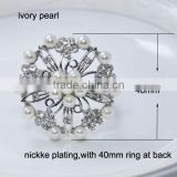 (M0409) 2014NEW ! 100pcs/lot Elegant Wedding Flower Rhinestone Napkin Rings ,Napkin Holders ,48mm diameter ,40mm ring at back