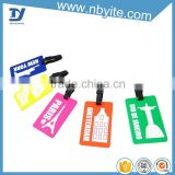 Yite OEM cheap bulk silicone soft pvc plastic its luggage tags print own logo for wedding favor                                                                                                         Supplier's Choice