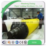 Coated hardness P&J 10-15 polyurethane roller for paper making machine press part of paper mill