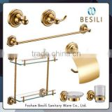 hotel style gold plated bathroom accessories set DUBAI 33GP