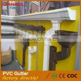 High quality vinyl water pvc roofing rain gutter, greenhouse small roof pvc rain gutter system                                                                                                         Supplier's Choice