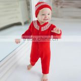 wholesale baby clothes cotton red coverall infant clothing
