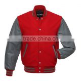 2015 Wholesale Top Quality Fashion Men's Wool Letterman Baseball jacket varsity jacket baseball