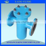 Supply basket strainer oil filter