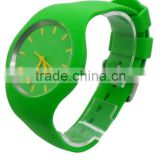 Quartz Icetype Steel back japan movement Silicone watch, Western wrist watches