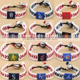 New custom America all teams baseball leather MLB bracelet
