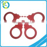 soft plastic handcuff toys kids police toys silicone rubber handcuff police handcuff toy