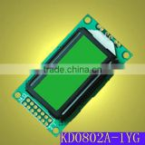 8x2 character yellow green LCD module with ST7066