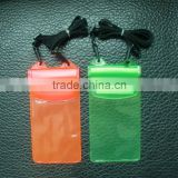 Non-toxic Phthalate Free Clear Vinyl PVC cell phone waterproof bag