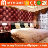 Luxury Solid Color Deep Embossed Stone Art Plaid Vinyl 3d Waterproof Wallpaper for Bedroom                                                                         Quality Choice