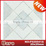 Simple design glass mosaic hall floor tiles patterns