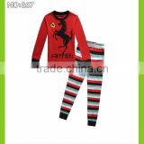 2015 baby clothes kids racing pajamas children clothes boys stripe pyjamas girls long sleeve sleepwear tops+legging 2pcs sets