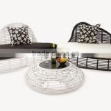 New design wicker rattan bamboo sofa set- outdoor rattan furniture garden sofa set (1.2mm aluminum frame with powder coated)