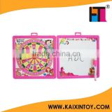 Promotion kids magnetic drawing board with dart board target