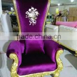 Wholesale hotel antique wooden throne high back chair, luxury royal chair