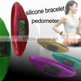 Sport silicone wristband pedometer for kids