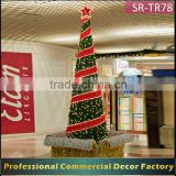 Customize 5m 6m 8m 9m 12m 15m outdoor large giant lighted Spiral christmas tree for parking lot