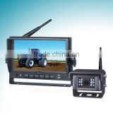 7 inches 2.4 GHz digital wireless system (monitor and camera retroceso retrovisor) for vehicle