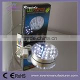 Wholesale Battery Operated 15cm round Wedding Centerpiece Lights Base Flower Glass Vases Stand Lights